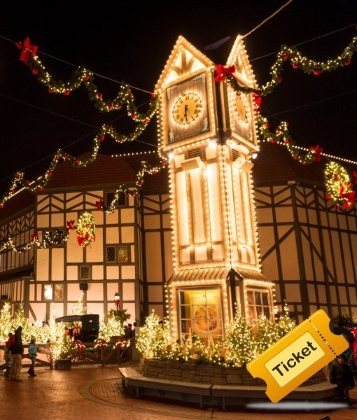 Christmas Town.Busch Gardens Christmas Town 1 Day Ticket